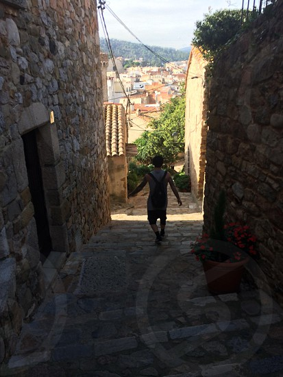 The beautiful back streets of Tossa de Mar Barcelona  photo