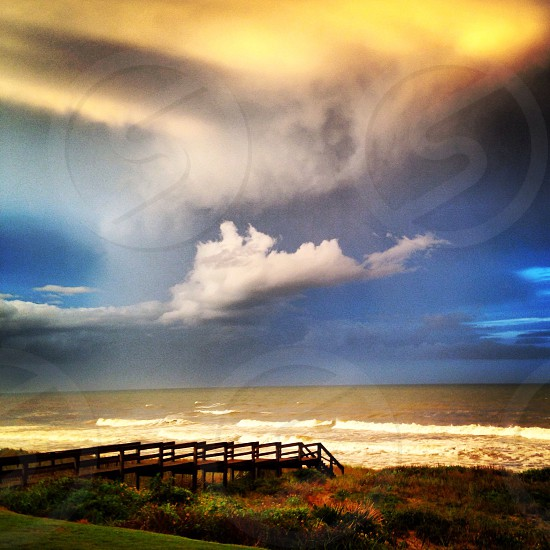 Florida sky before the storm photo