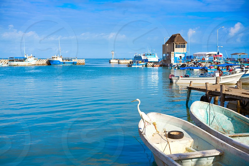 Chiquila port in Quintana Roo Mexico crossing ferry point to Holbox photo