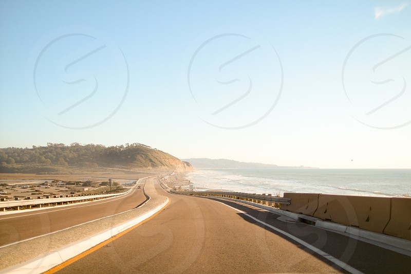 Torrey Pines La Jolla San Diego CA highway beach windy road ocean photo