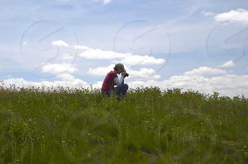 People using cameras photography nature blue sky photo