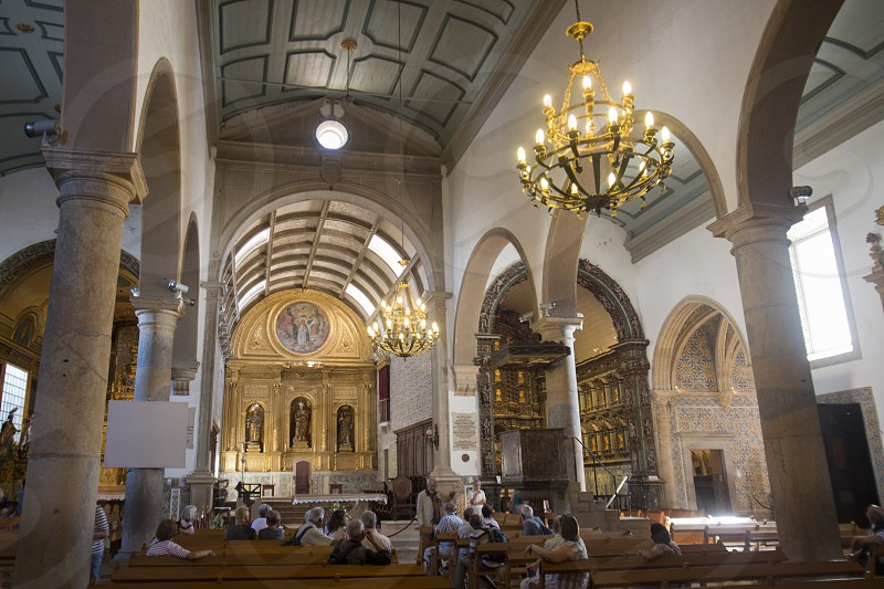 the Cathedral in the old town of Faro at the east Algarve in the south of Portugal in Europe. photo