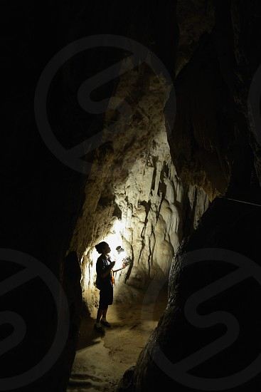 inside the Pangmapha cave near the village of  Soppong in the north provinz of Mae Hong Son in the north of Thailand in Southeastasia. photo