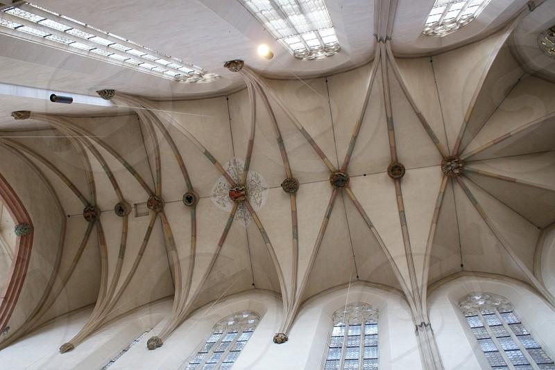 diamond shape building ceiling  photo