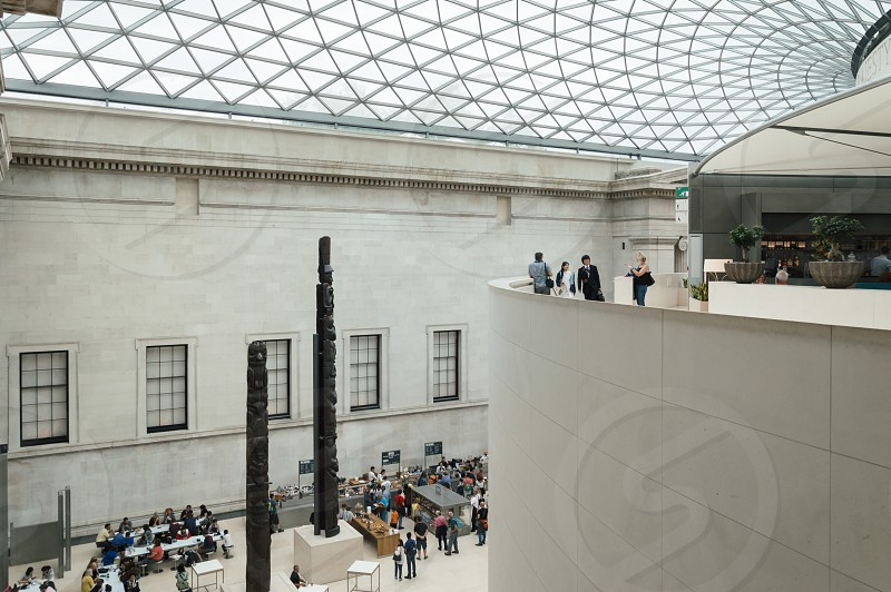 British Museum main court double height. The British Museum in London is dedicated to human history and culture. photo