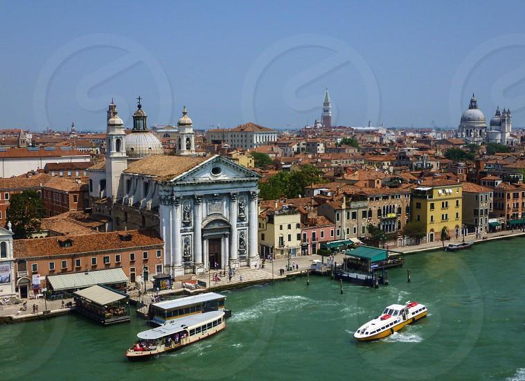 Venice Drone Air Italy boats  photo