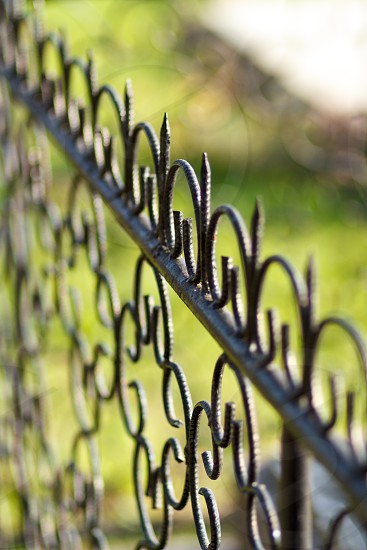 Iron fence photo