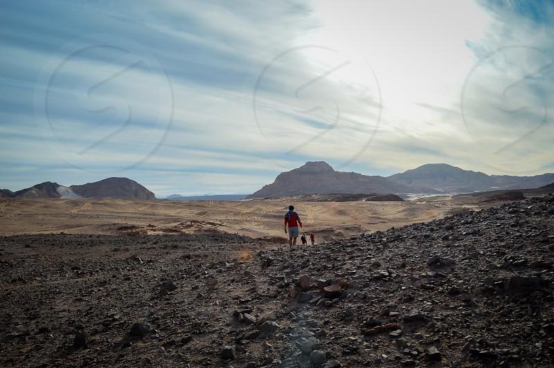 Dahab egypt colored canion travel sandy desert photo