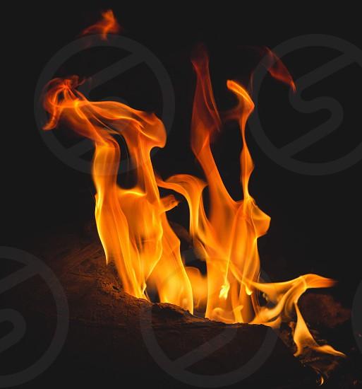 Fire smoke flames flame photo