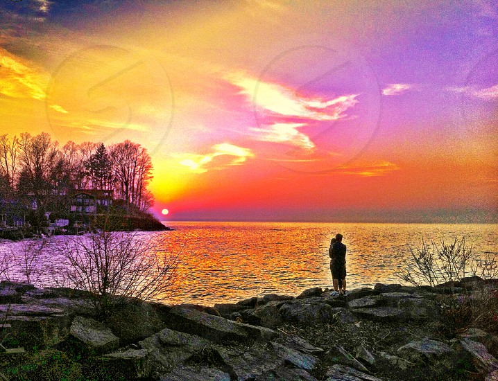 Young lovers sunset Webster park Lake Ontario  WNY photo