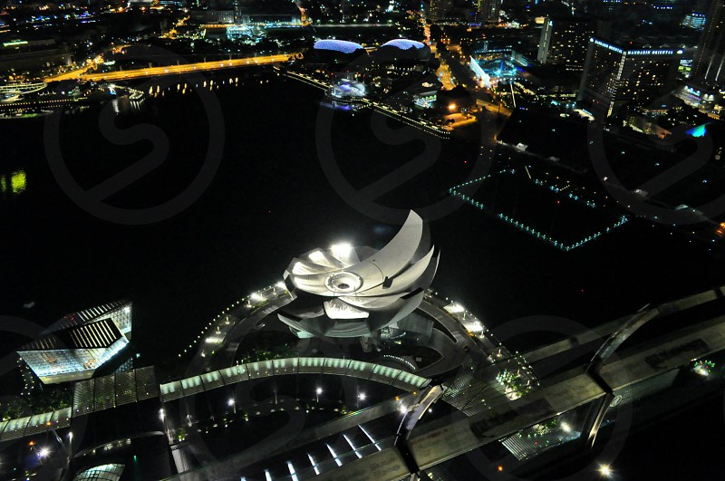 aerial view of modern building photo