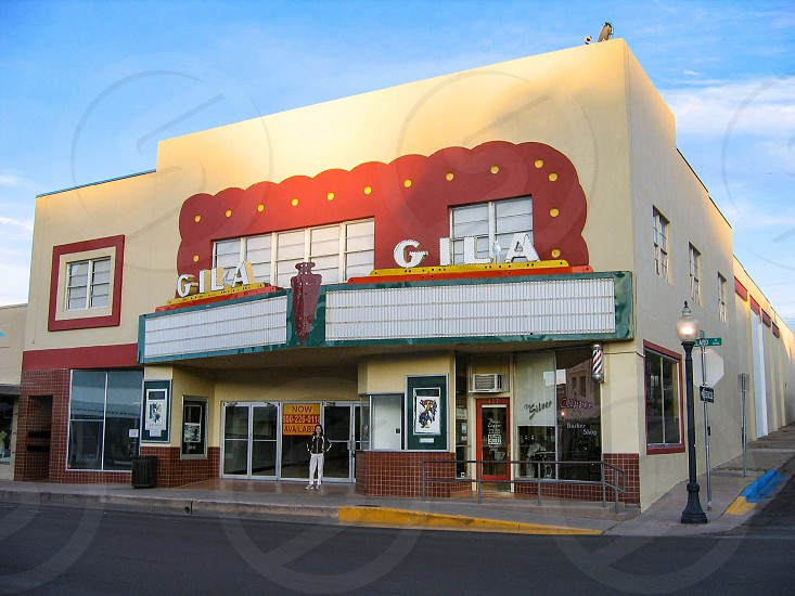 The vintage Gila Theater in downtown Silver City New Mexico still operating. photo