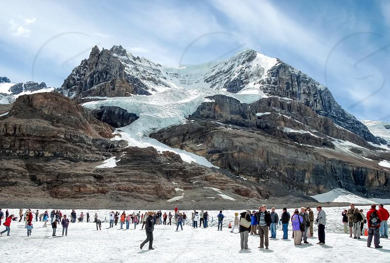 Athabasca Glacier in Jasper National Park Alberta Canada photo