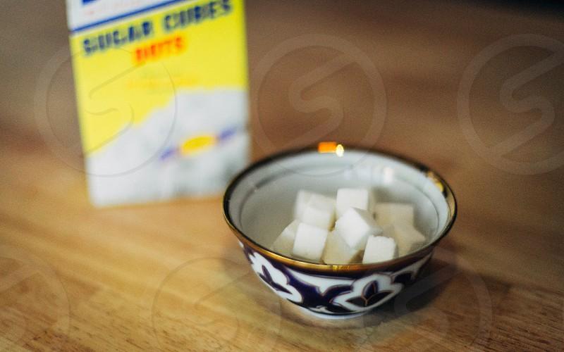 white marshmallow in bowl photo