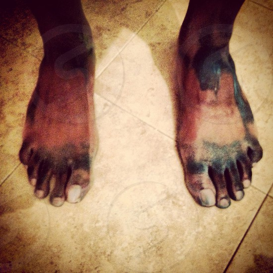 Painted feet photo