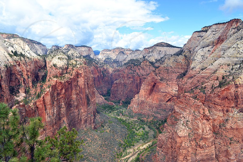 From the top of Angel's Landing in Utah photo