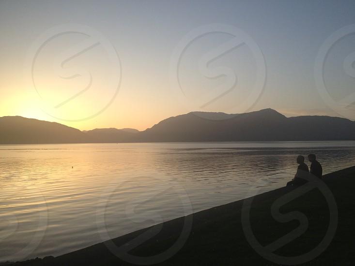 Sunset in the Scottish Highlands photo