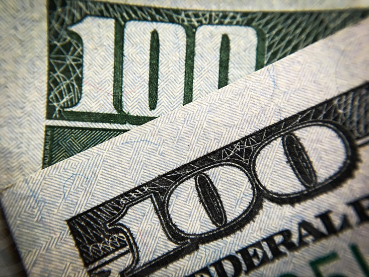 Close up $100 bill photo