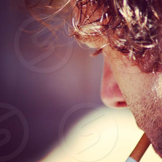Smoking man smoking cigarettes smoking habit man handsome beard photo