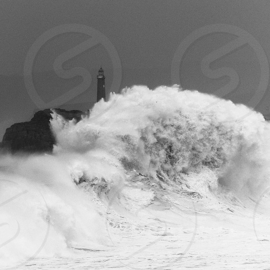 Lighthouse in a Storm Santander Spain photo