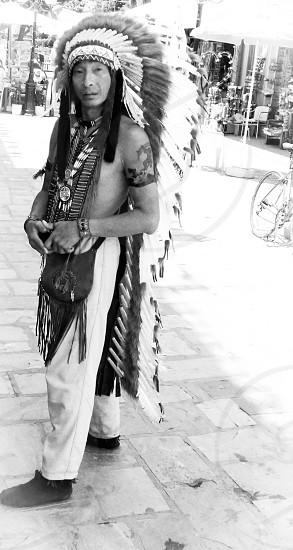A native American in Greece photo