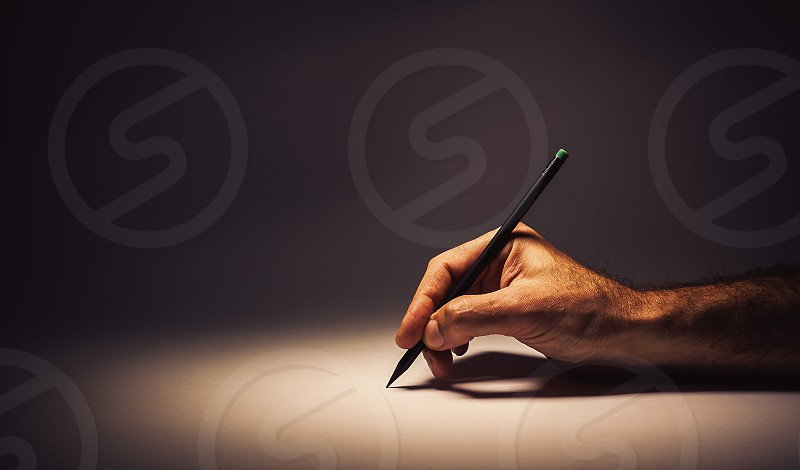 Conceptual composition about writing or drawing.  photo