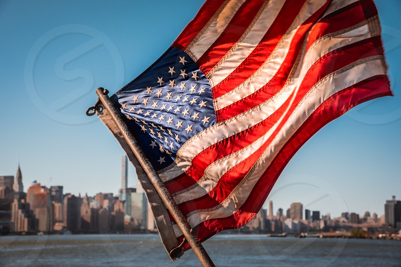 New York America flag flag USA  photo