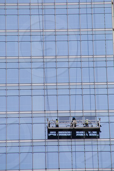 glass cleaners working photo