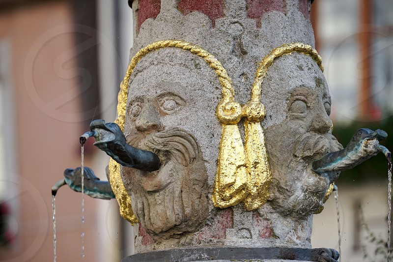 Unusual water spout in Rothenburg photo