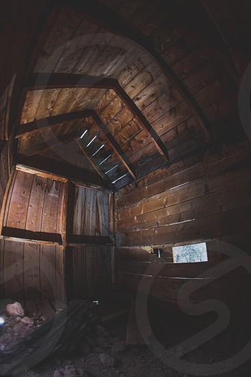 wooden cabin walls photo