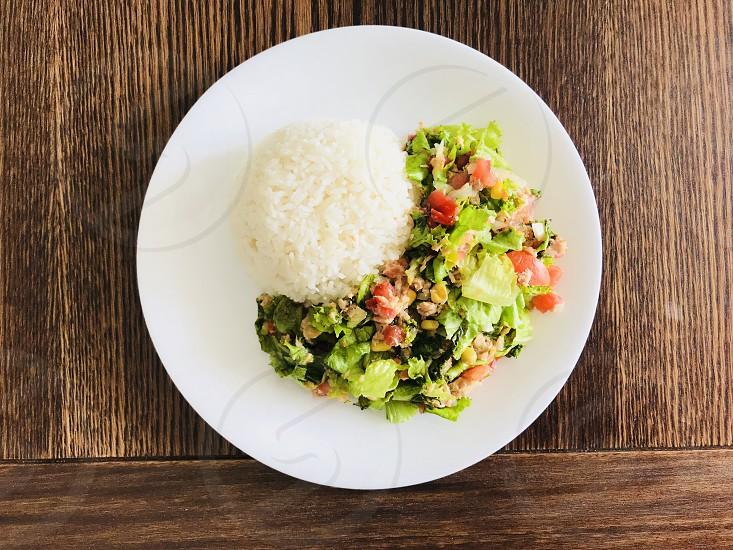 Salad green tuna  photo