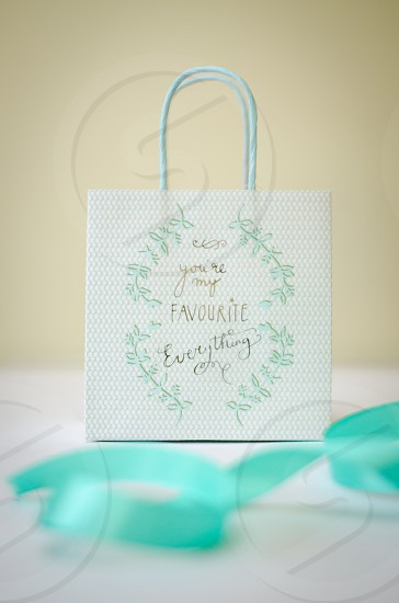 Gift bag and ribbon favourite everything vintage style photo