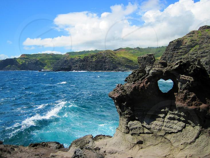 heart rock in Maui HI photo
