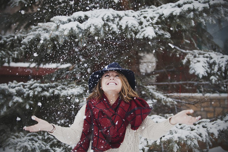 playing in the snow photo
