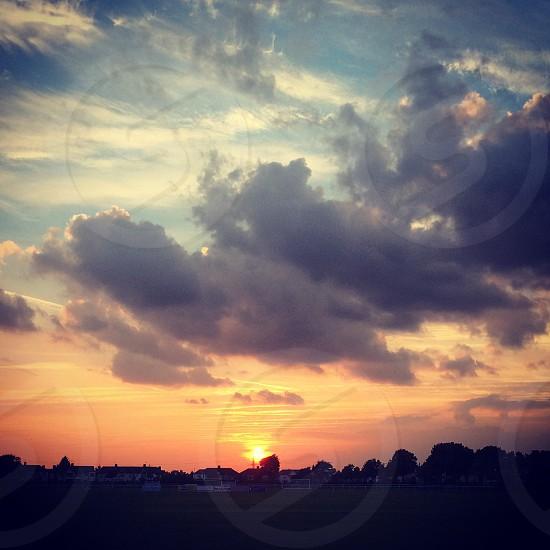 Evening sun photo