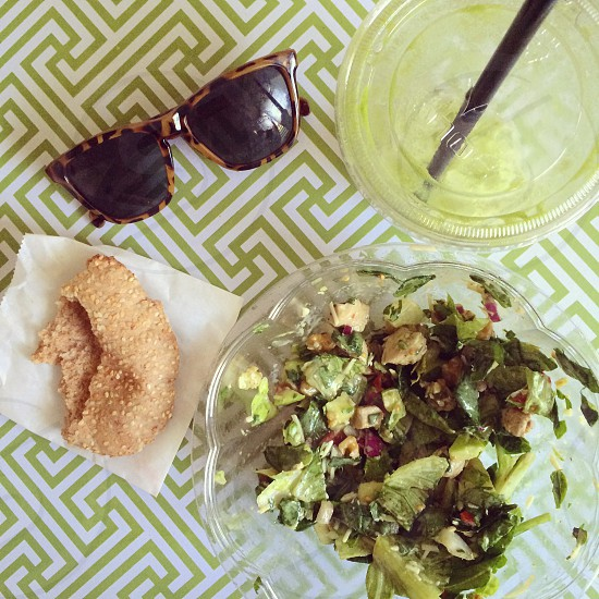 Eating green.  photo