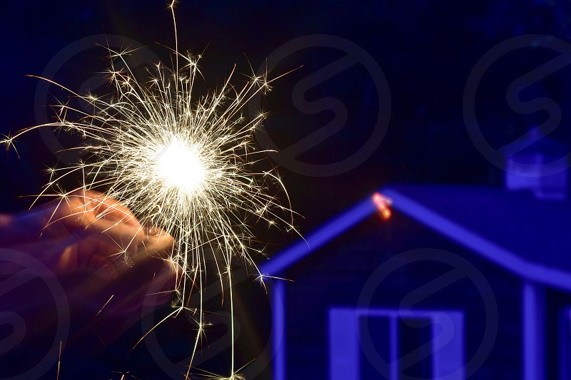 Independence Day Fourth July Sparkles Fireworks  photo