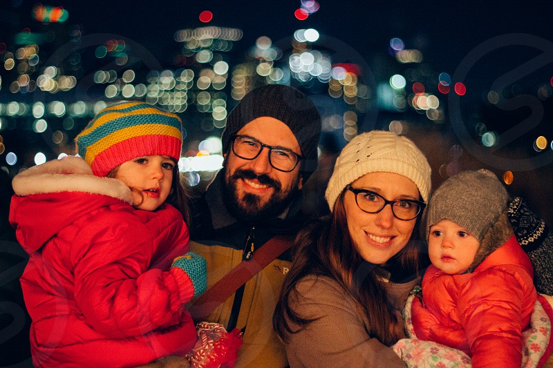 Winter people family  photo