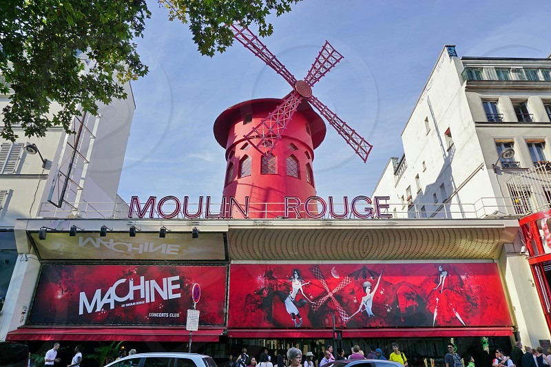 The Moulin Rouge theater in Paris France photo