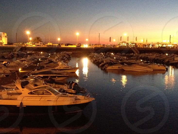 Marina at dusk photo