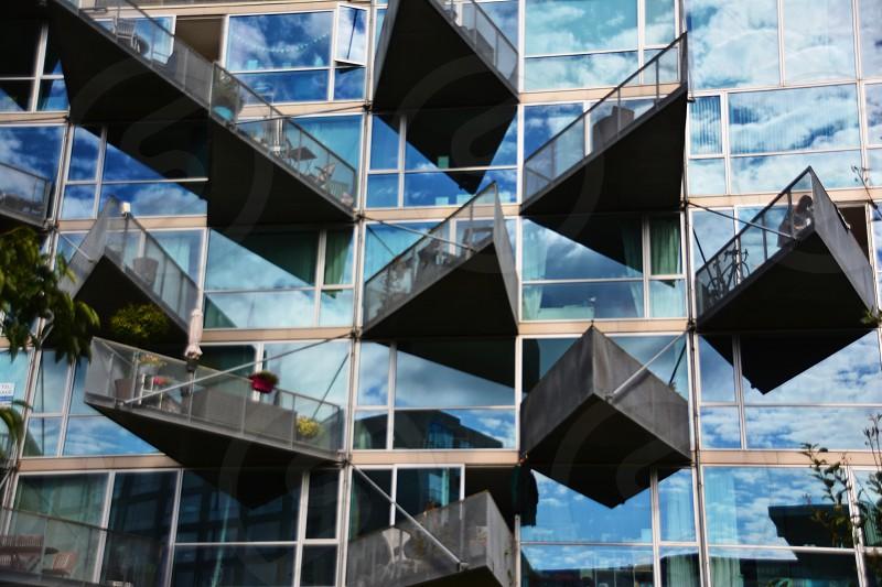 Glass building sky photo