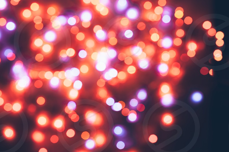 Abstract Christmas lights photo