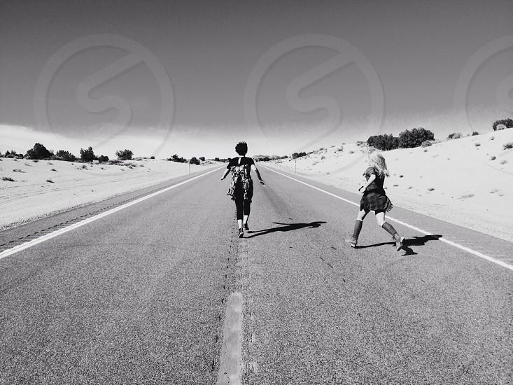 Running away.  photo