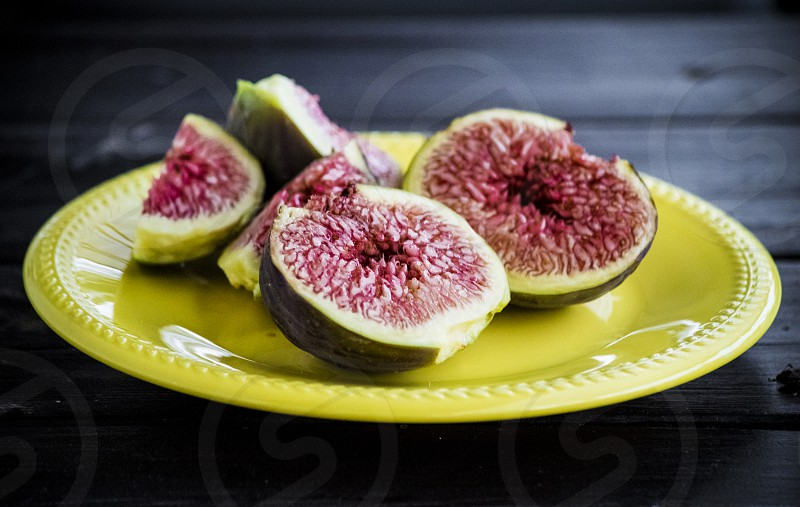 A plate full of figs photo