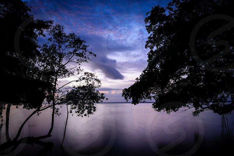 """View from Bacalar lagoon known as """"seven colors lagoon"""". photo"""