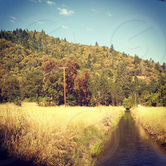 Irrigation ditch in Southern Oregon photo