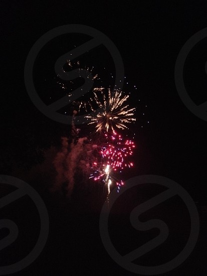 view of fireworks dispay photo
