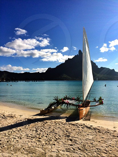 Outrigger canoe BoraBora  photo