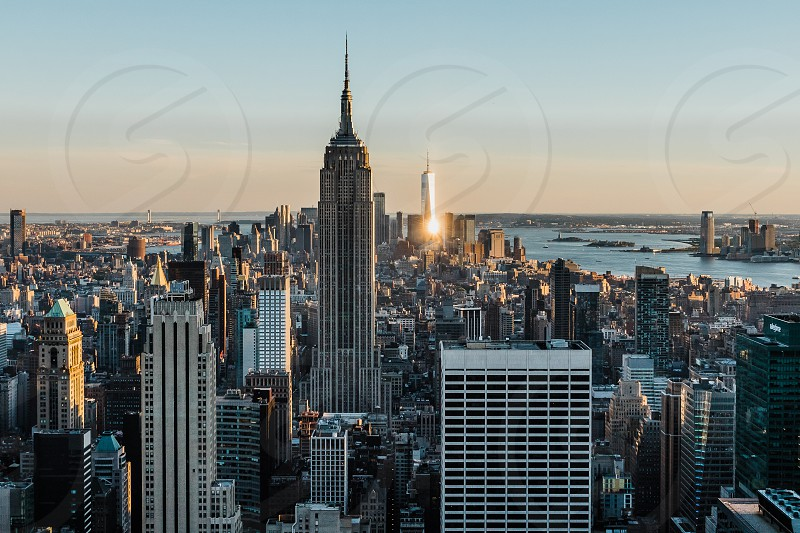 Iconic New York City high rise buildings. photo