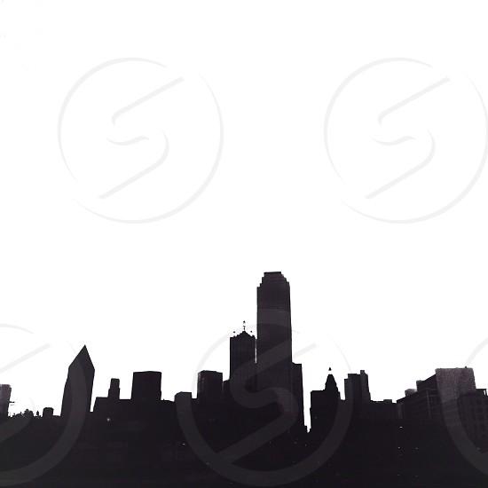 medium rise building silhouette photo